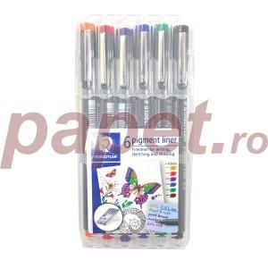 Pigment Liner 03mm Staedtler 6/set ST-308-03-SSB6