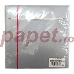 Plic Daco silicon argintiu 16 x 16 cm / bucata PC1616AG