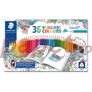 Creioane colorate Staedtler ergo soft Johanna Basford 36 culori / set ST-157-M36JB