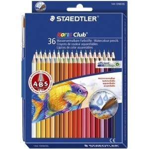 Creioane colorate Staedtler 36 culori / set aquarel Noris Club ST14410ND36