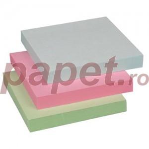 Notes adeziv 75x75mm 4 culori x 100 file pastel Globox E6635
