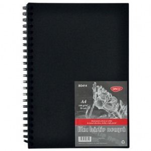 Bloc A4 hartie neagra 140 gr 30 file BD414