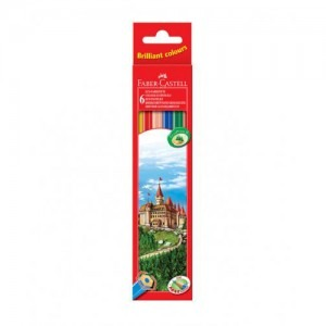 Creioane color Faber Castell 6 culori / set 4387