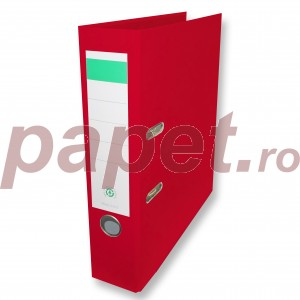 Biblioraft plastifiat Papet 8cm rosu E564012