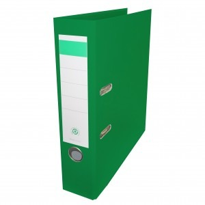 Biblioraft plastifiat Papet 8cm verde E564014