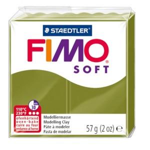 Lut polimeric Fimo Soft pentru modelaj 8020-Green olive