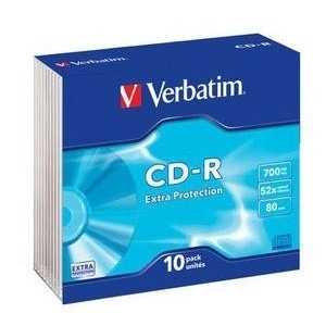 CD-R Verbatim 52X carcase slim VER43415