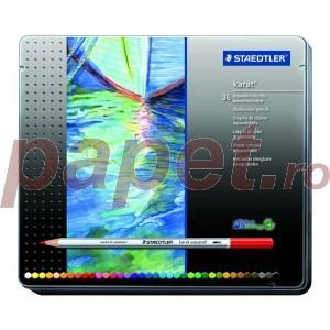 Creioane colorate Staedtler 36 culori / set karat aquarel STH-125-M36