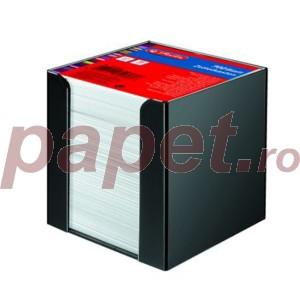 Bloc notite Herlitz alb cu suport 9x9x9 cm 700 file 1600360