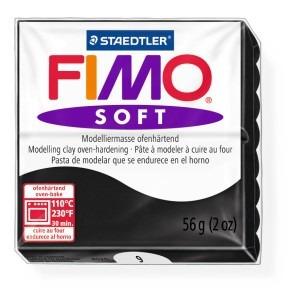 Lut polimeric Fimo Soft pentru modelaj 8020-Black
