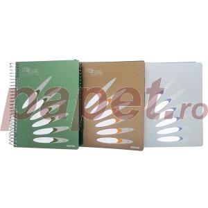 Agenda Argo steel class A5 150 file diverse culori 98238