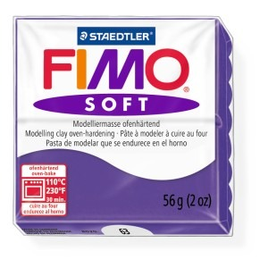 Lut polimeric Fimo Soft pentru modelaj 8020-Plum