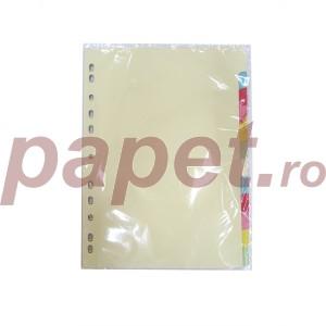 Separatoare carton Optima A4 180G/MP 10culori/set 10038