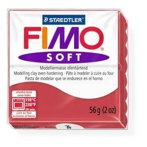Lut polimeric Fimo Soft pentru modelaj 8020-Cherry red