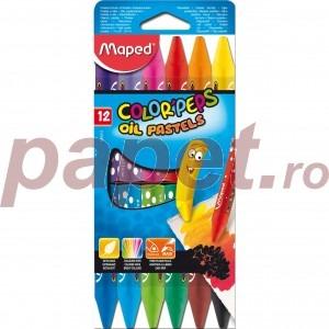 Creioane colorate cerate Maped 12 culori / set M864010