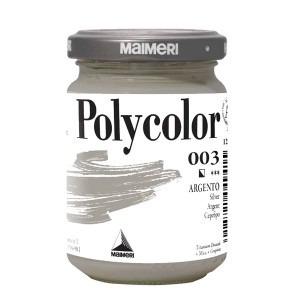 Culoare acrilica Maimeri polycolor 140 ml silver 1220003