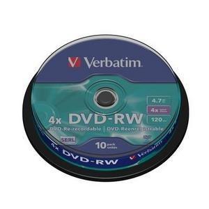 DVD-RW Verbatim 4X 10/box VER43552