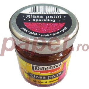 Culori sticla sau vitraliu 30ML Sparkling Pink P26524