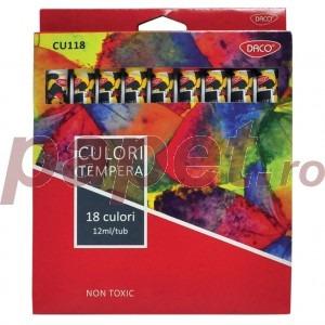 Tempera 18 culori Daco 4765