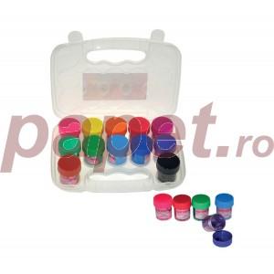 Tempera 12 culori Daco 20ML glitter CU120