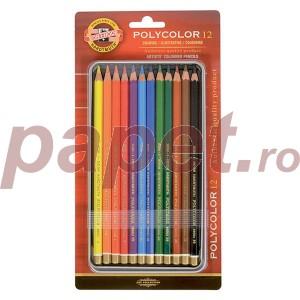Set creioane color Polycolor Koh-I-Noor 12/set K3822-12