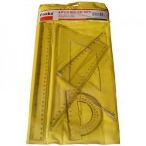 Set geometrie 4 piese 30cm Foska EAAA93-30