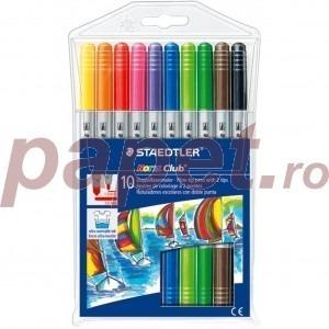 Carioca Staedtler 10 culori  cu doua capete ST320NW910