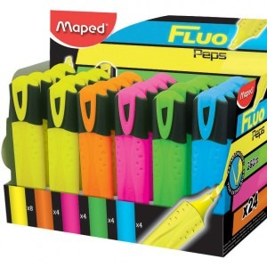 Textmarker evidentiator Maped fluo pep's classic diverse culori M742737
