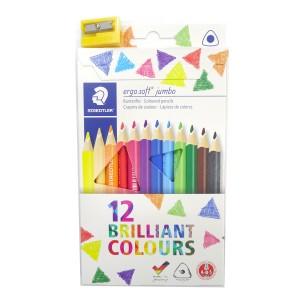 Creion color Ergo Soft Jumbo Staedtler 12/set ST-158-C12