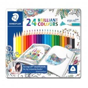 Creioane colorate Staedtler ergo soft Johanna Basford 24 culori / set ST-157-M24JB