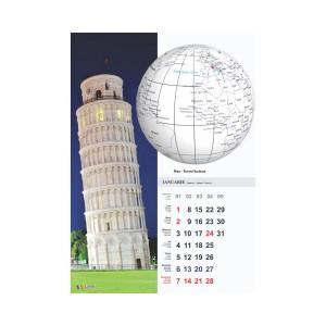 Calendar 2018 A3 Arhi policromie orasele lumii pe glob C17OLG